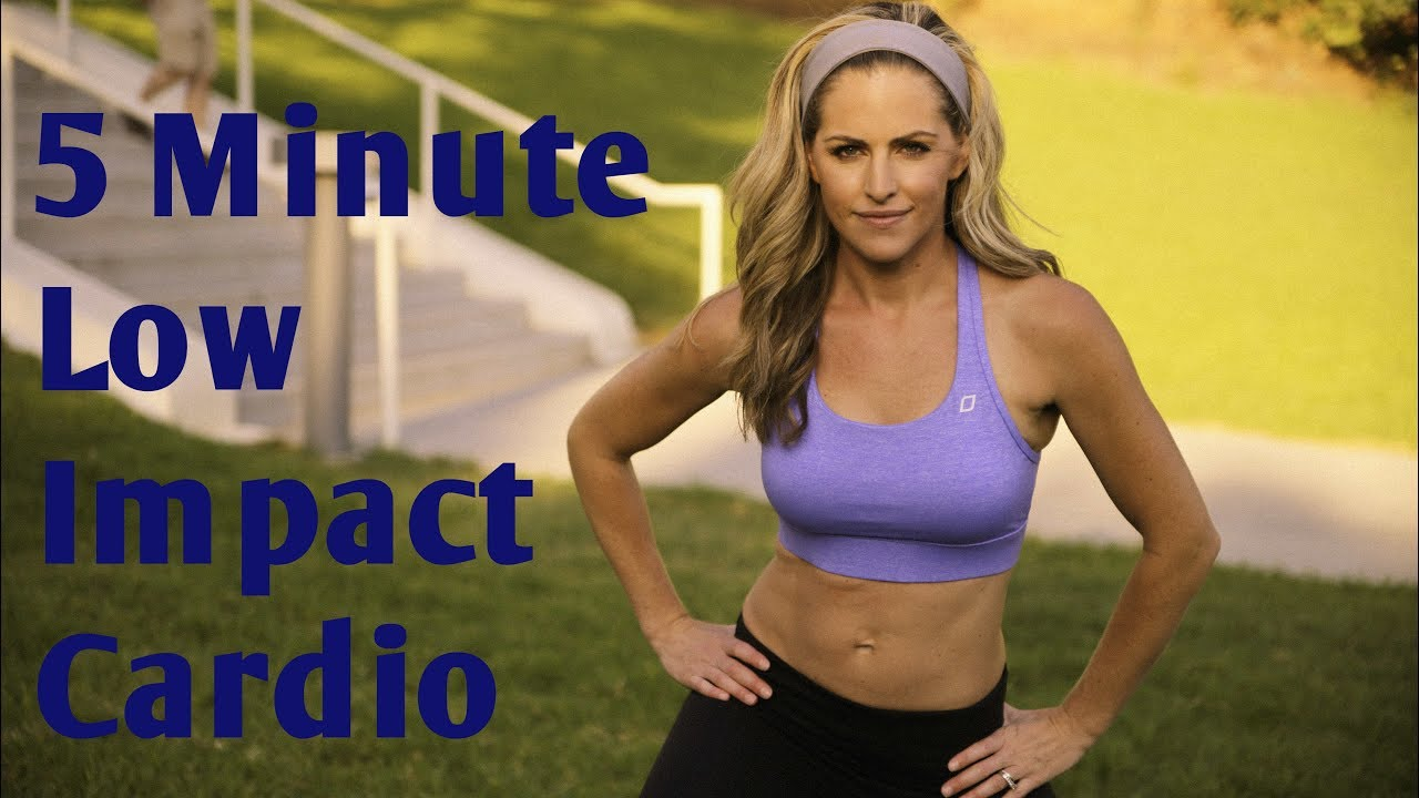5 Minute Low Impact Cardio Workout For Fat Burning
