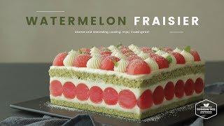 수박 프레지에 케이크 만들기 : Watermelon Fraisier Cake Recipe - Cooking tree 쿠킹트리*Cooking ASMR