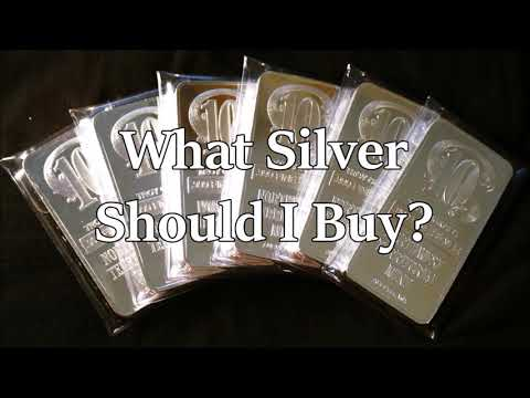 What Silver Bullion Should I Buy?Info For New Investors