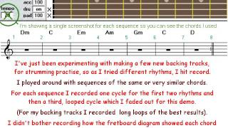 Backing tracks are fun to make - just experiment