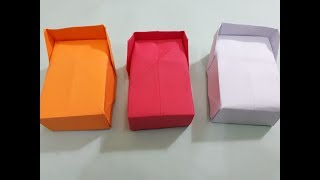 How to Make Easy Origami paper Bed for Doll (kids)