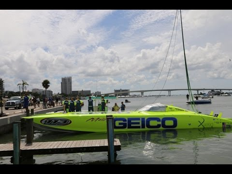 Super Boat Clearwater 2014.Launching the boat.September 27.2014