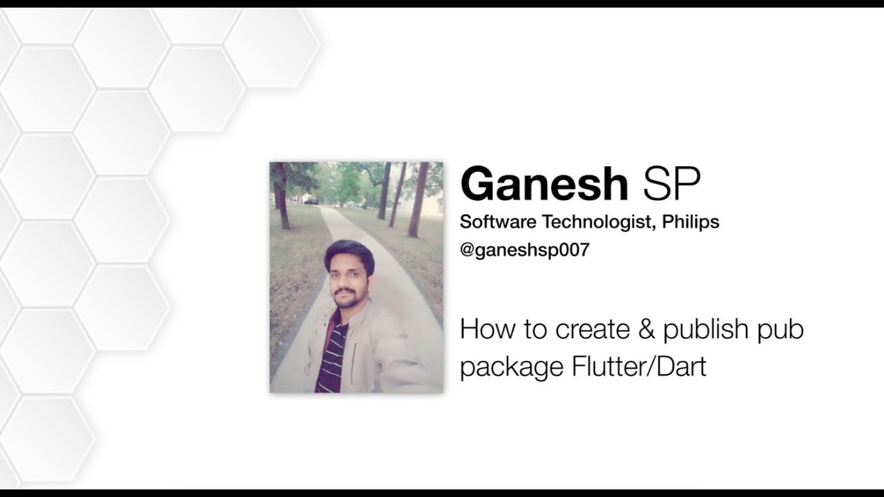 How to Create pub Packages in Dart & Flutter By Ganesh S P