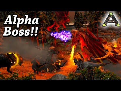 ARK DRAGON & MANTICORE BOSS FIGHT HARD!! Ark Survival Evolved Ragnarok Boss Arena Alpha Ep32
