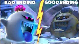 Luigi Mansion 3 Good Ending vs Early Bad Ending