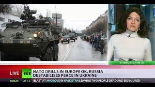 Massive NATO military drills near Russian border underway