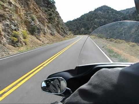 Motorcycle riding in the Sierras