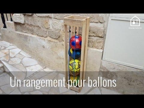 Tutoriel fabriquer un rangement pour ballons en bois de palettes bricolage facile youtube - Comment degonfler un ballon ...