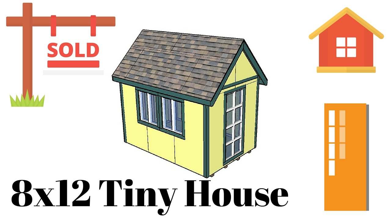 tiny house plans - 8x12 Tiny House On Wheels Plans