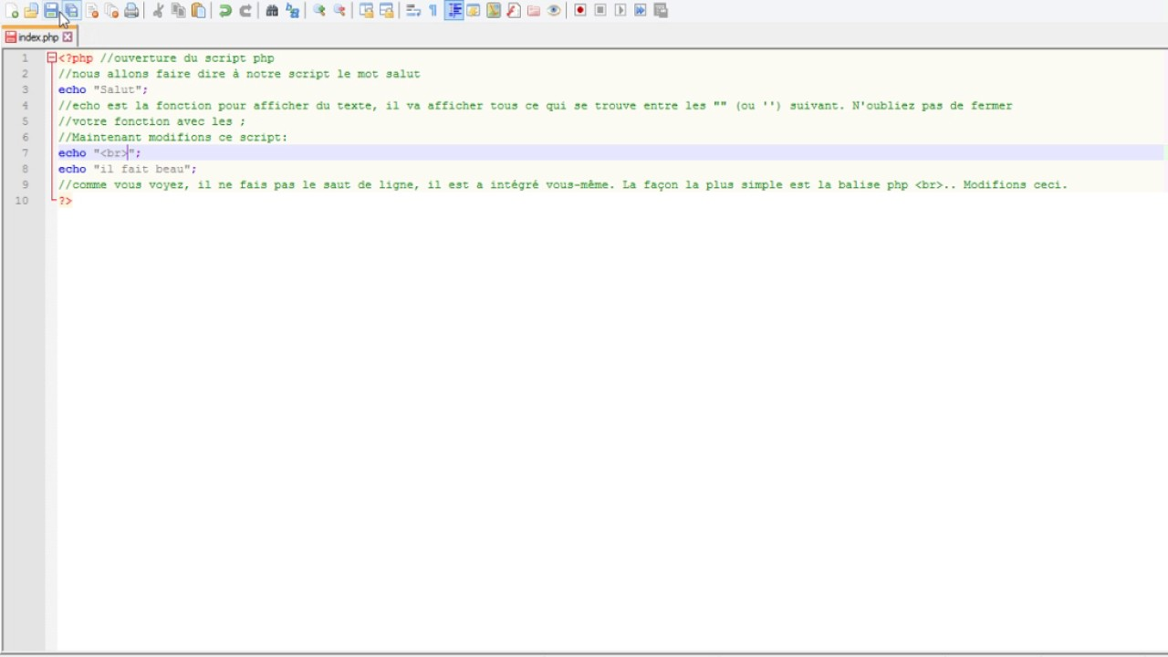 php texte