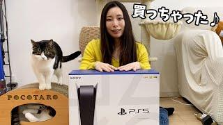 PS5がやってきた!【親子猫】