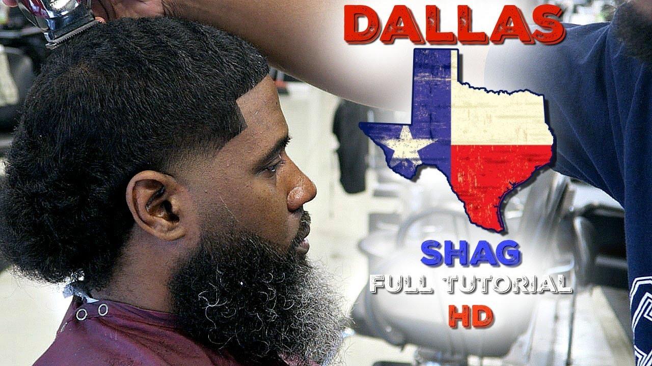 BARBER TUTORIAL; HOW TO CUT A DALLAS,TX SHAG HD - YouTube