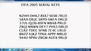FIFA 2005 SERIAL KEYS
