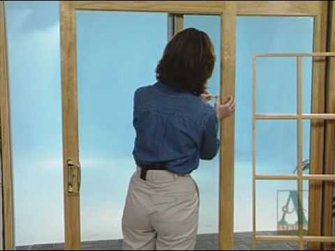 How to Install the Grille for a Patio Door - YouTube