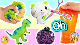 DIY Squishy Spielzeug zerschneiden I Cutting Open Squishy SCHLEIM Experimente I PatDIY