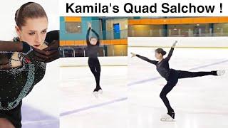 Kamila Valieva lands QUAD Salchow Камила валиева New Quad Queen