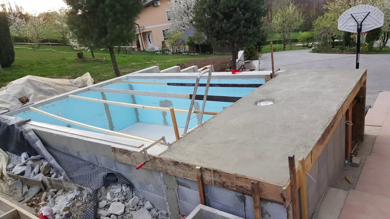Homemade Pool How To Build A Pool In 3 Months Youtube