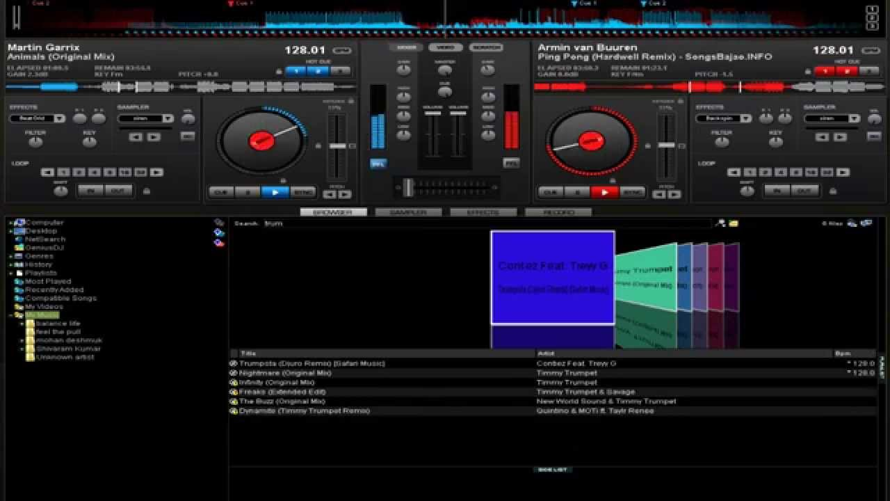 How to MIX in Virtual DJ Pro 7 - Mixing EDM songs - YouTube