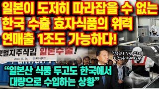 일본이 도저히 따라잡을 수 없는 한국 수출 효자식품의 …