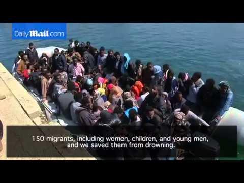 Libyan coast guards rescue 150 migrants en route to Europe   Daily Mail Online