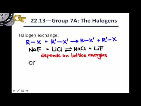 22.7 Reactions Of Halogen Compounds