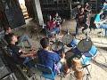 "Latihan ORKES Kampung NABABA juga cek sound ""Krisna ""dan mengundang artis kondang ""Wan abud"""