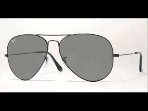 3f2d138378a Ray Ban Aviator Black RB 3026 L2821 Sunglasses - YouTube