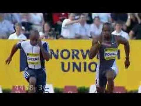 Asafa Powell's bouncing package