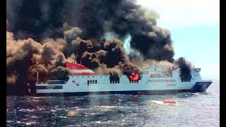 Top 10 Large Cruise Ships In Storm! Big Ships Crash In Fire