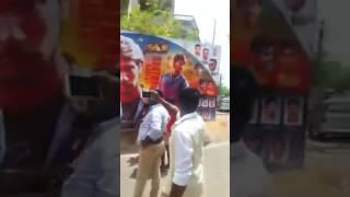 Gautham Karthik Fans Mass @ Rangoon Release FDFS