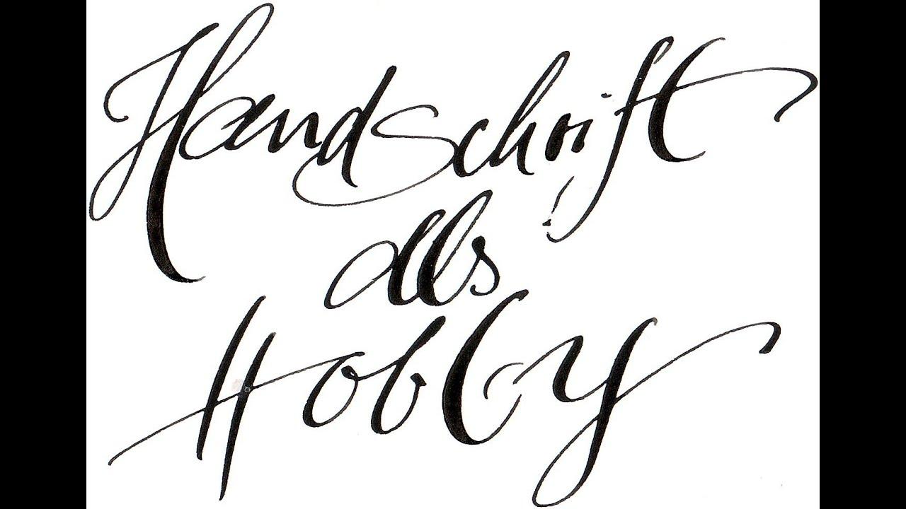 handschriftalshobby1der anfang hf 25 youtube