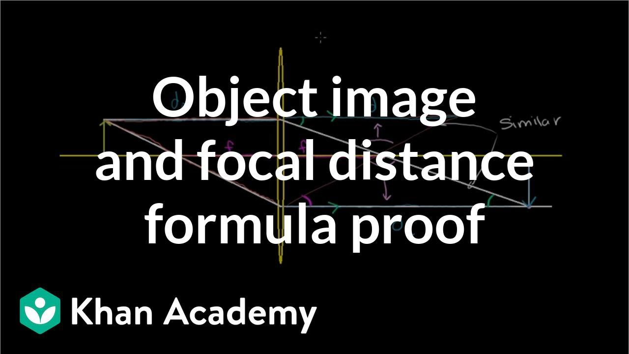 Object image and focal distance relationship (proof of formula