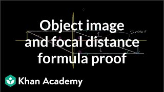 Object image and focal distance relationship (proof of formula) | Physics | Khan Academy