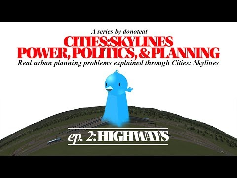 """This video uses the """"Cities: Skylines"""" game to show how"""