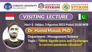 Visiting Lecture #Hari-1 : \