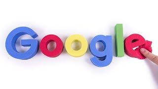 Baby Learn Colors DIY Kinetic Sand Cake Google Logo for kids Children