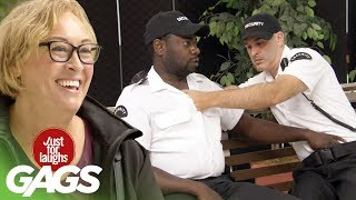 Old Lady Embarrasses Sleeping Security Guards