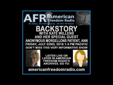 "Anonymous Morgellons Patient ""Ann"" Reveals Her Experience On Backstory With Kate Magdalena Willens"