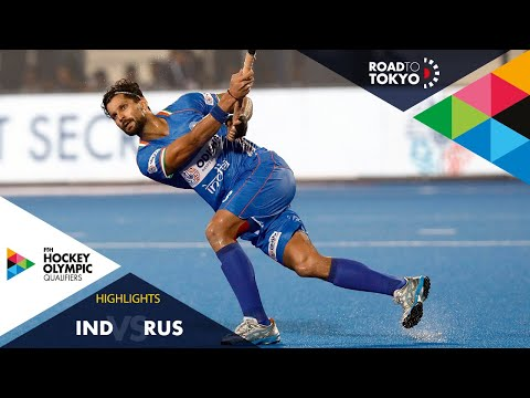India Vs Russia | FIH Hockey Olympic Qualifiers | Men's | Match 2