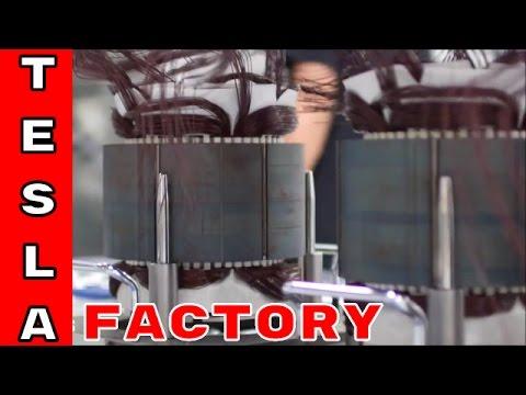 Tesla Model S Electric Motor Factory Assembly Plant