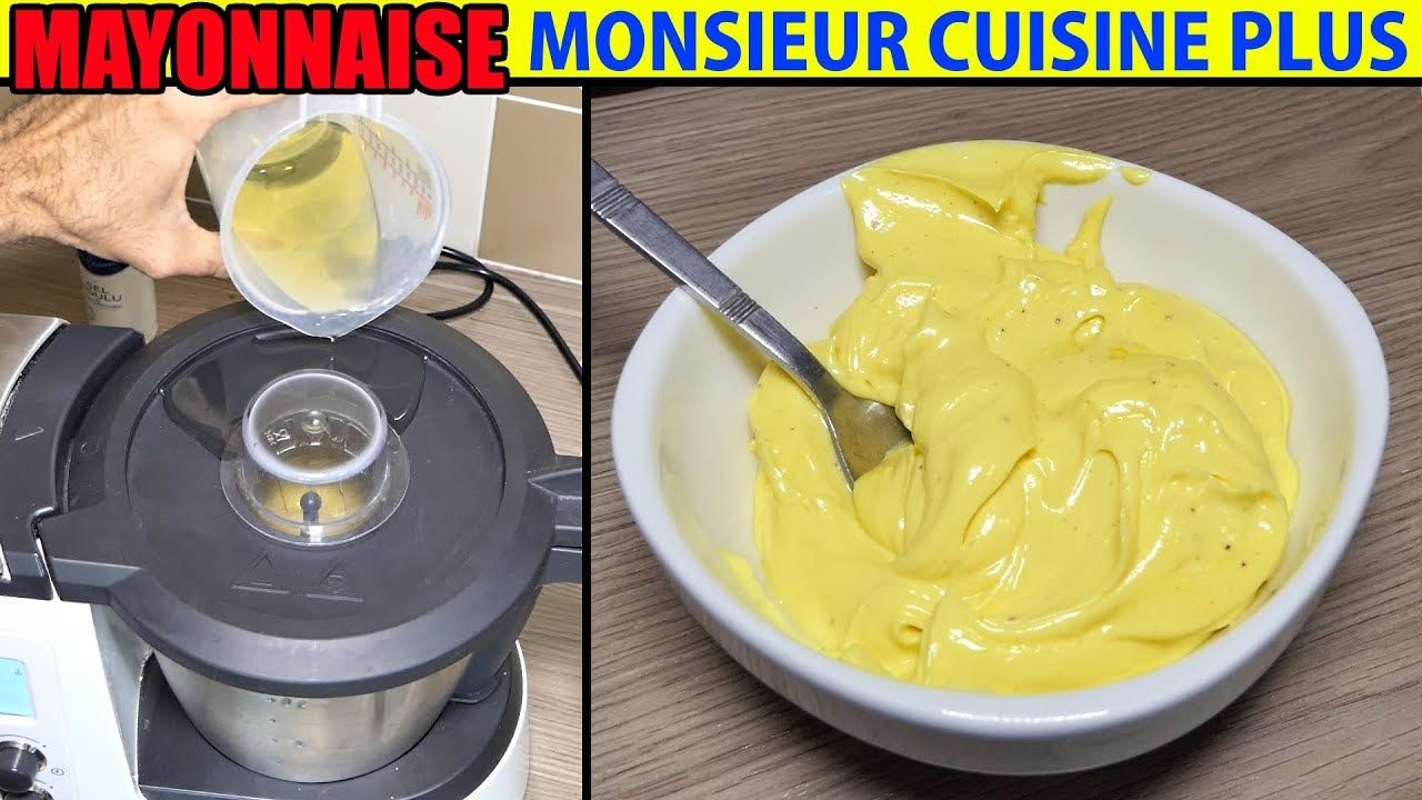 Recette mayonnaise monsieur cuisine plus thermomix maison mayonesa maionese recipe youtube - Monsieur cuisine plus vs thermomix ...