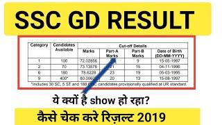 SSC GD CONSTABLE RESULT 2019 |कैसे चेक करे |SSC GD RESULT 2019 |SSC GD CUT-OFF......
