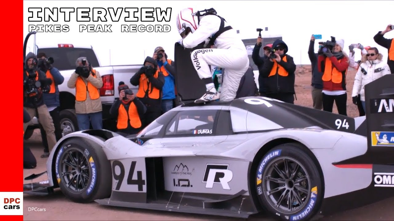 Pikes Peak Vw Id R Track Record Run With Finish Line Interview