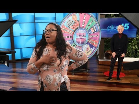 Ellen Plays 'Wheel of Riches' with a Lucky Fan