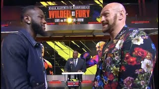 DEONTAY WILDER v TYSON FURY (HEAD-TO-HEAD) @ LOS ANGELES PRESS CONFERENCE AHAEAD OF HUGE REMATCH