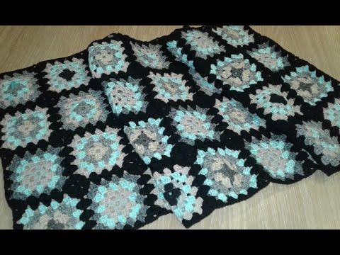 Кардиган из квадратных мотивов. Часть 2. Соединение мотивов в полотно.  Knitting women's cardigan.