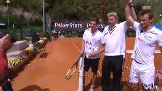 Petter Northug & Marcus Hellner play tennis with Boris Becker