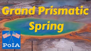 Grand Prismatic Spring; Yellowstone Park- Point of Interest, HD Footage of Grand Prismatic Spring