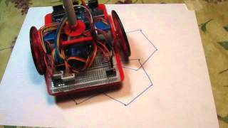 Arduino Drawing robot doing random patterns