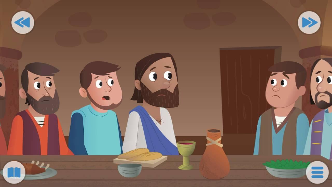 N 29 le dernier repas la sainte c ne vid o chr tien pour les enfants dessin anim youtube - Dessin pour les enfant ...
